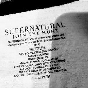 Hot Topic Tops - Supernatural quarter sleeve tee